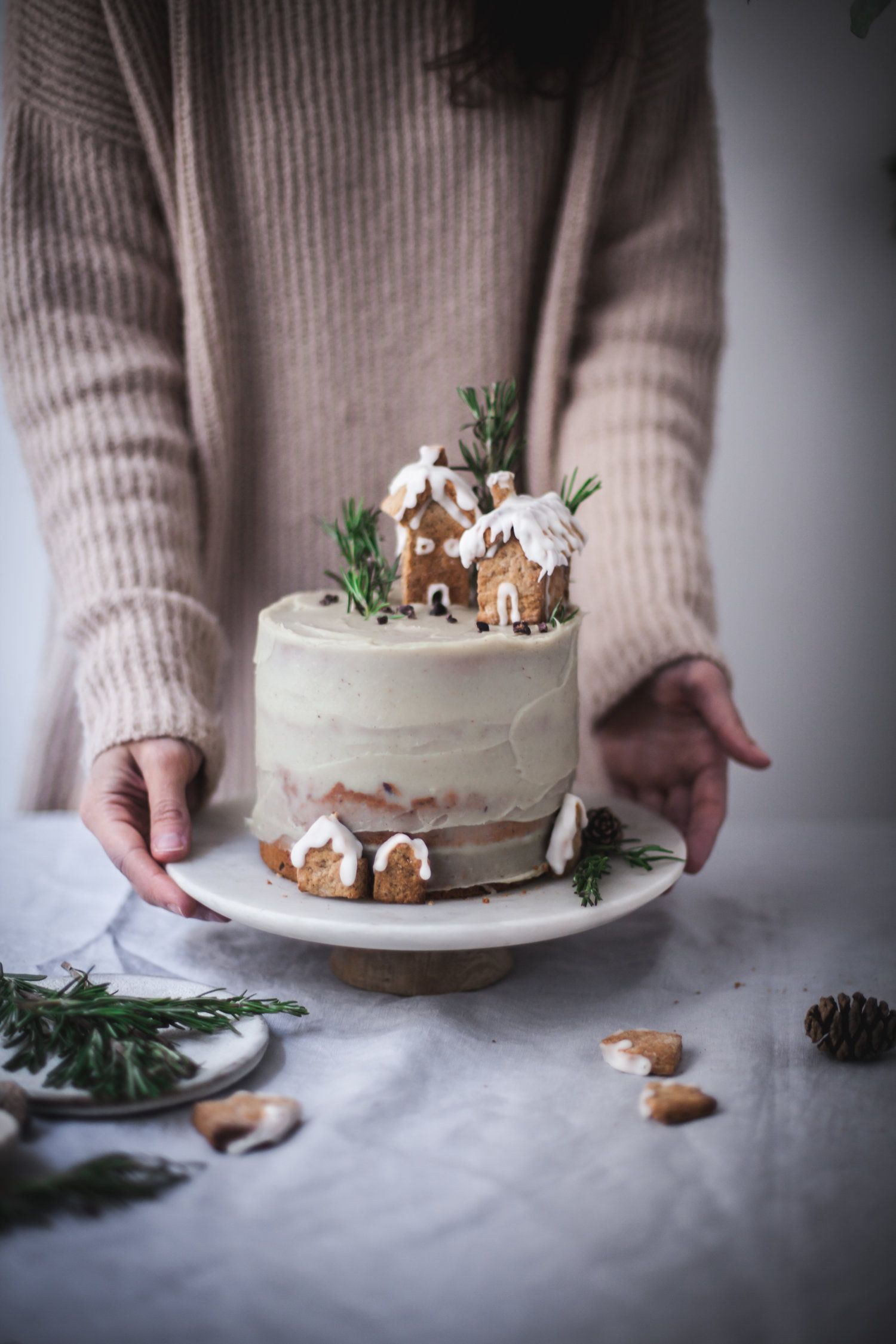 Christmas Cake with Chocolate & White Sweet Potato frosting | December Workshop — salvia+limone