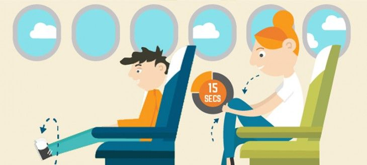 Your flying health and fitness guide infographic