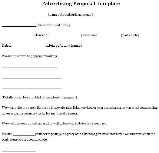 Advertising proposals Advertising Proposals Pinterest - advertising proposal template