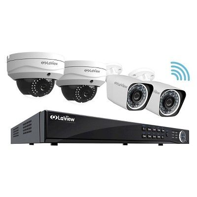 LaView 1080P Wifi Wireless Security Camera System 2TB Hdd, 2x Bullet and 2x  Dome 1080P Indoor outdoor Cam, Remote View Night Vision Home Security bb051daa4d