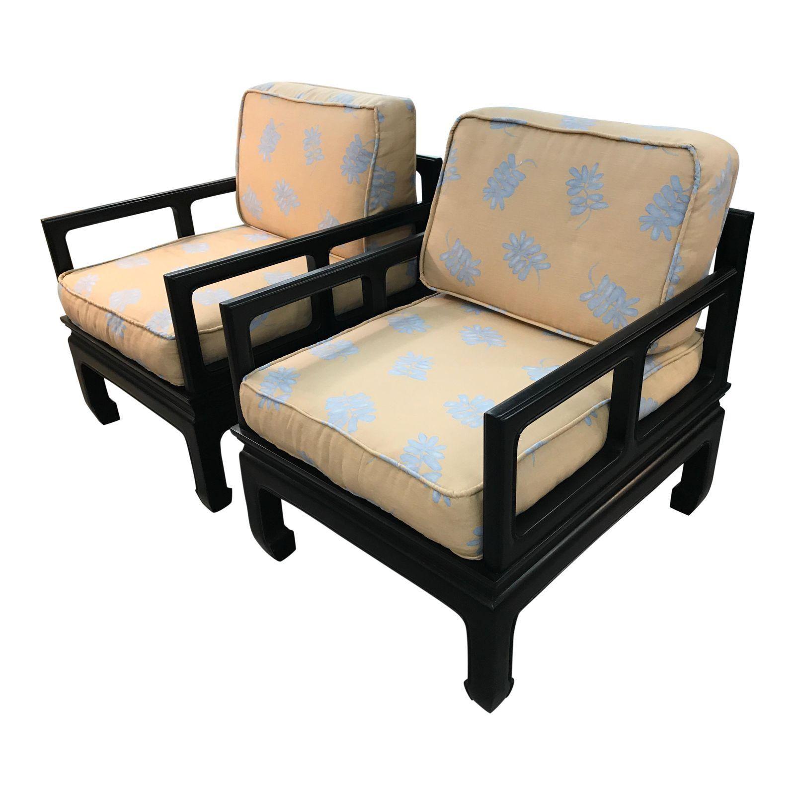 Astonishing Vintage Royal Cathay Asian Chairs A Pair On Chairish Creativecarmelina Interior Chair Design Creativecarmelinacom