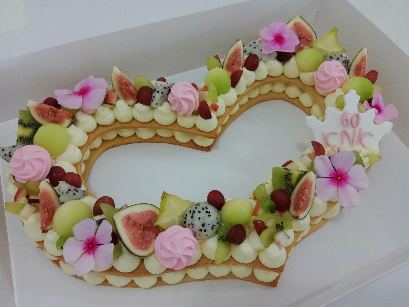 Fruit Cake Letter Cake Heart Cake Almont Tart Healthy Cake
