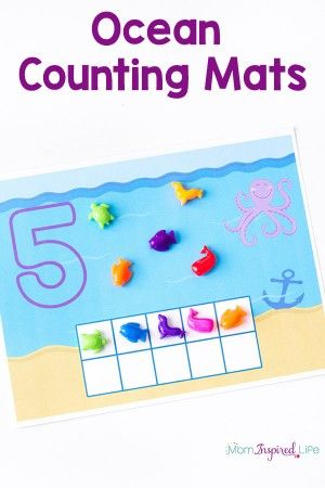 Ocean Counting Mats Pin | Okean theme | Pinterest | Math