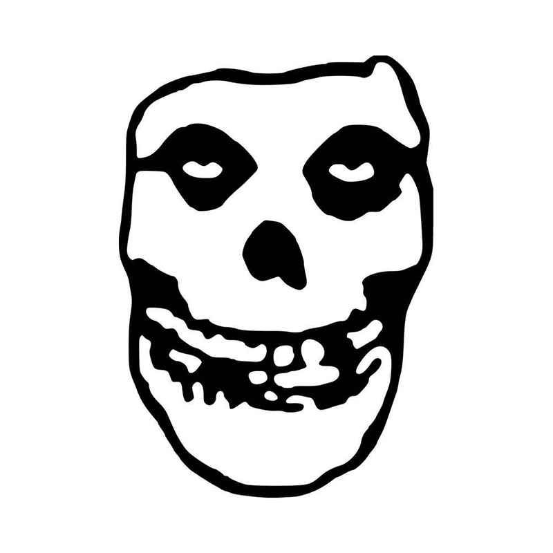 The misfits skull logo vinyl decal sticker