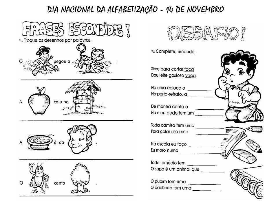 Suficiente Compartilhando Ideias: ATIVIDADES PARA TRABALHAR FRASES   Educação  DD46