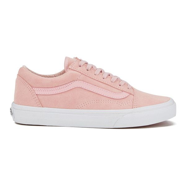 Vans Women's Old Skool Suede/Woven Trainers - Peachskin/True White ($78)