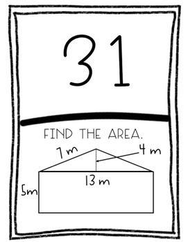 Scavenger Hunts: Geometry Bundle: Area, Surface Area