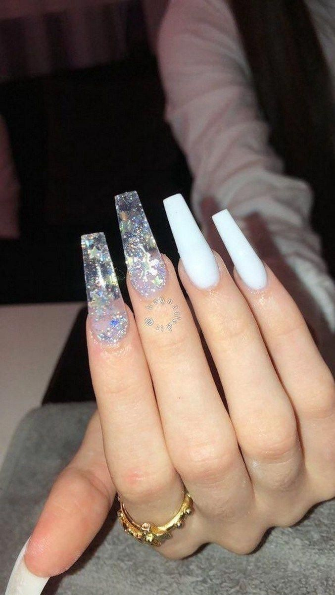 45 stylish acrylic coffin nail designs and colors for spring