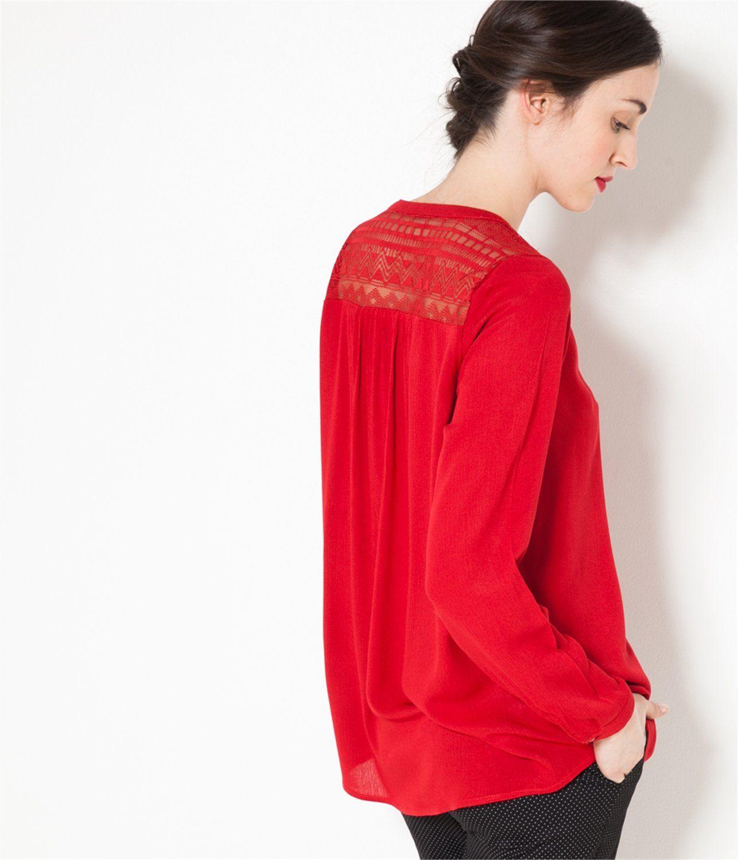 Shirt / Blouse CHARLOTTE LACE - 25,99€  Spring Summer 2016 / Printemps été 2016  CAMAIEU COLLECTION
