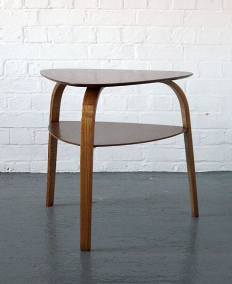 Hugues Steiner Bow Wood Side Table For Steiner 1948 Wood Table Bow Wood Side Table Wood