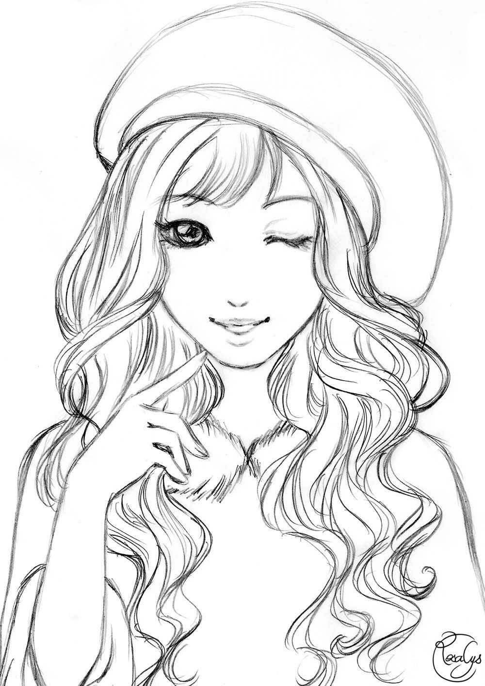 Teenager Cute Anime Girl Coloring Pages   Novocom.top