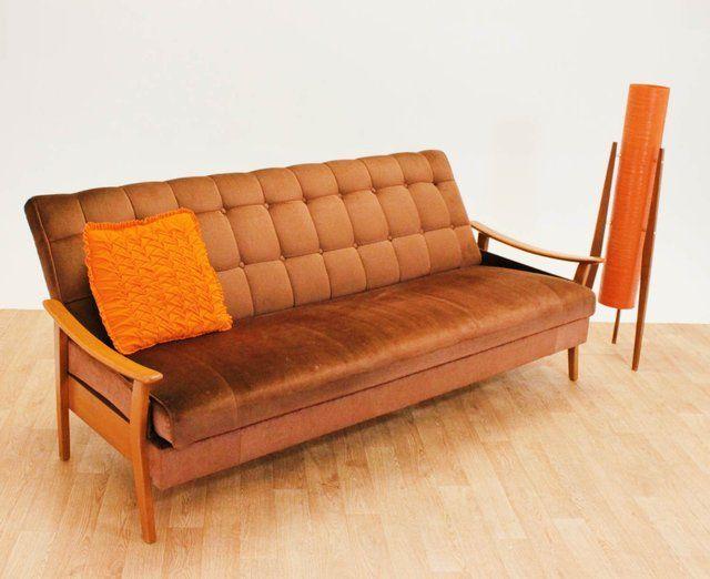 Retro Orginal Guy Rogers G Plan Teak Daybed Sofa for sale ...