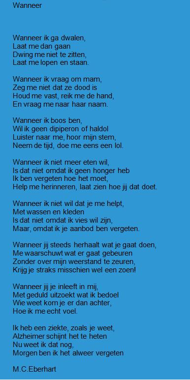 dementie gedicht