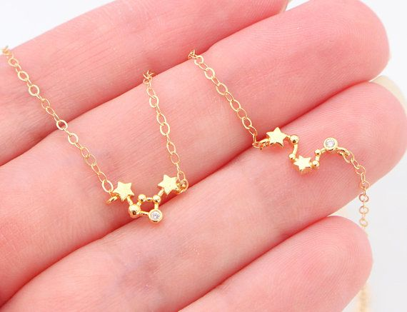 41551f435 Dainty Zodiac Sign Necklace, Constellation Necklace, Zodiac Outline  Layering Necklace, Minimalist Jewelry Gift for Her, Star Necklace This  necklace created ...