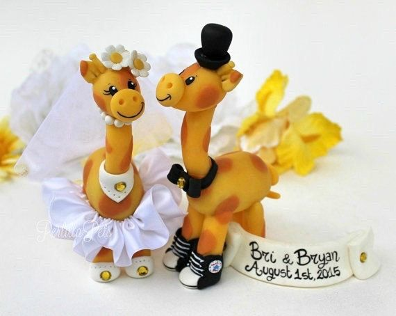 Wedding Giraffe Cake Topper Custom Personalized Animal