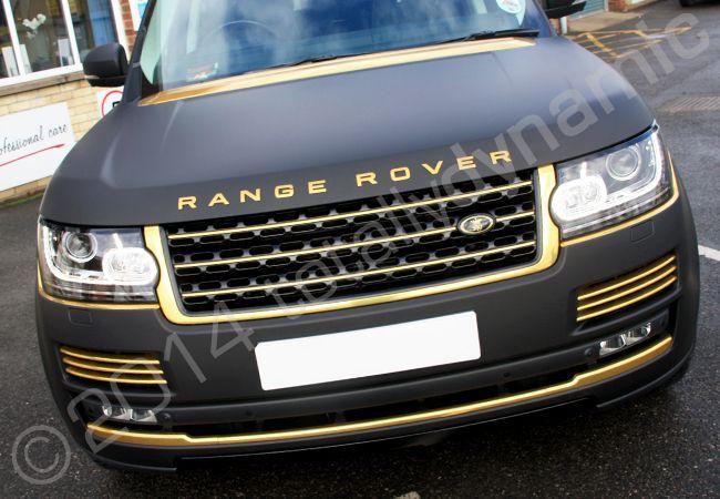Shiny Black And Gold Cars Black Matt Range Rover Vogue Fully