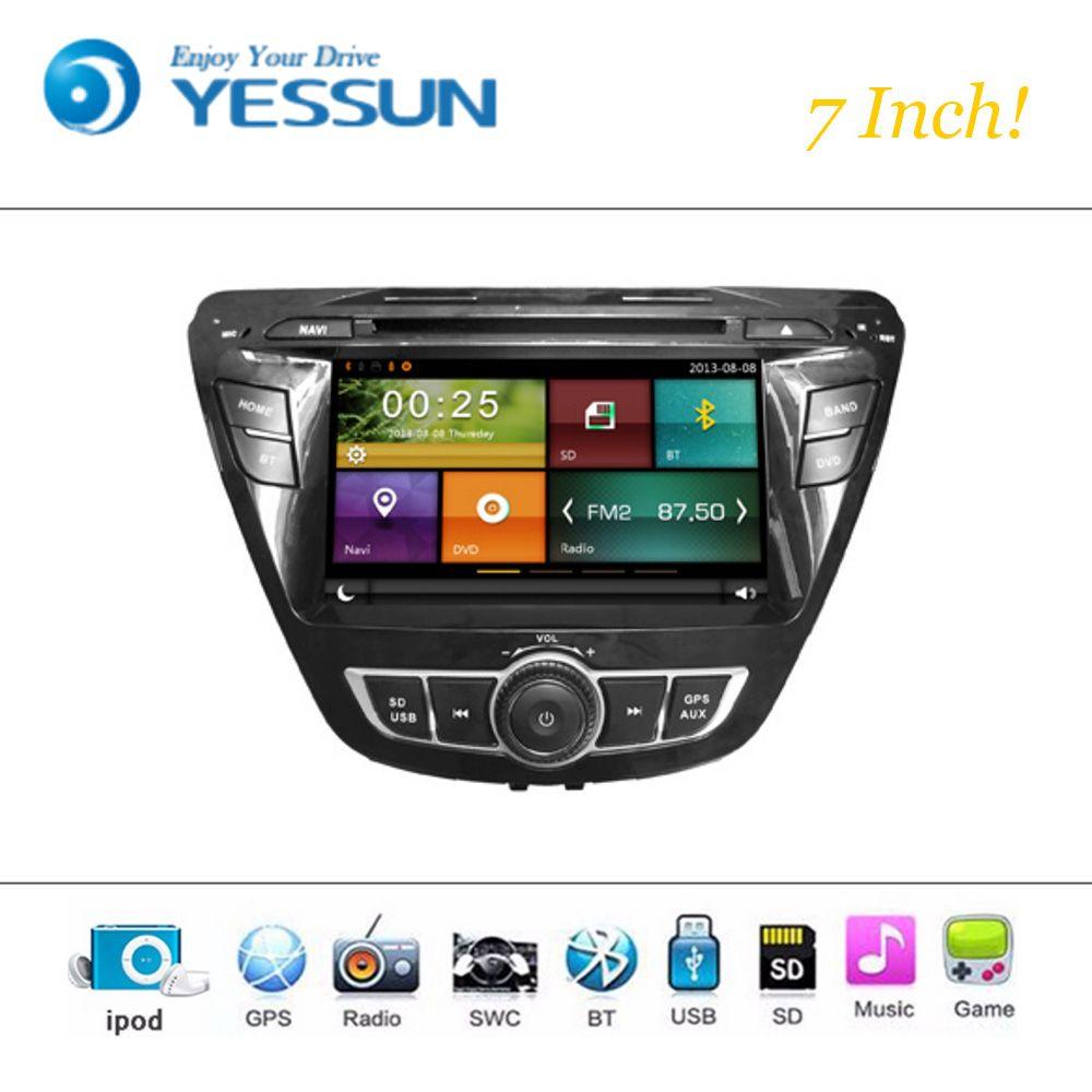 Car Dvd Player Wince System For Hyundai Elantra 2012 2016 Autoradio Car Radio Stereo Gps Navigation Multimedia Audio V Car Dvd Players Usb Radio Gps Navigation