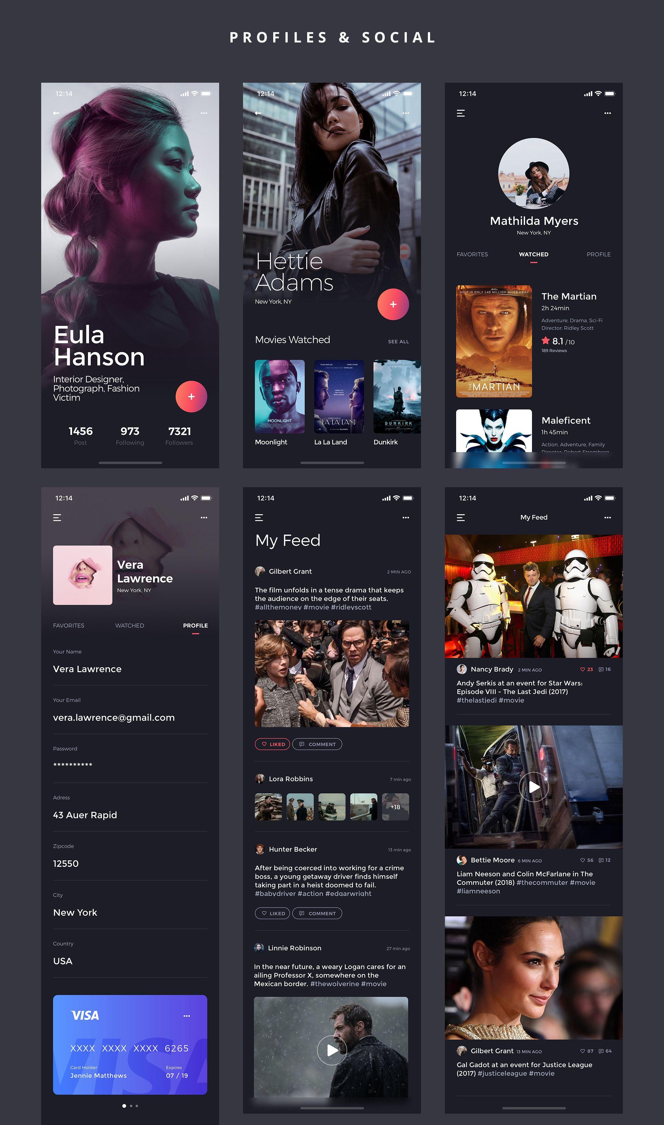 Kino iOS UI Kit — UI Kits on UI8 | UI Design | Ios app