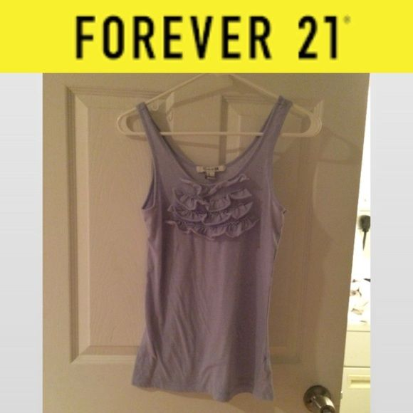 Forever21 Tank Top Blue tank top from forever 21 with details Forever 21 Tops Tank Tops