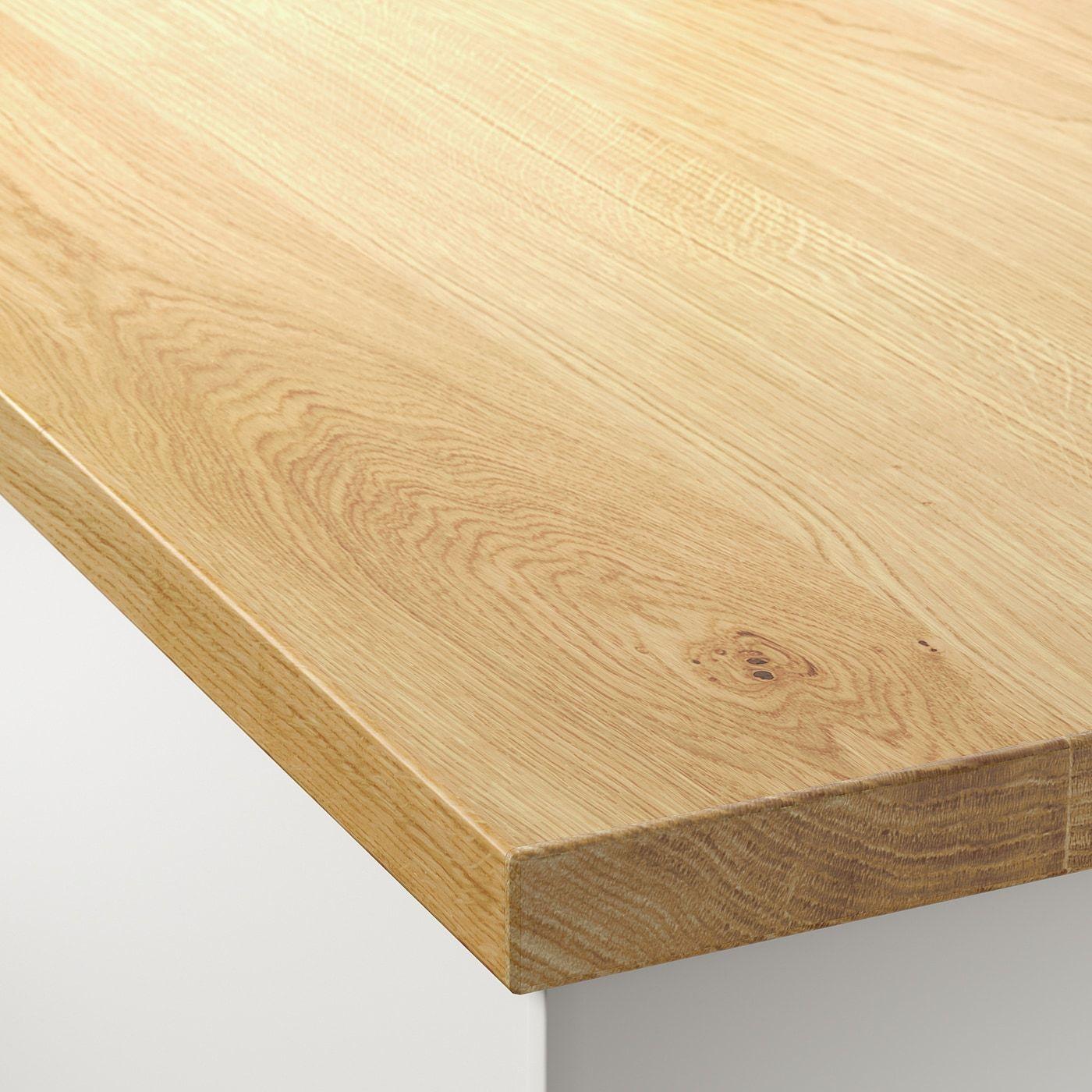 Mollekulla Arbeitsplatte Eiche Furnier Ikea Osterreich In 2020 Kitchen Countertops Countertops Wood Countertops