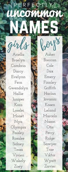 Our Favorite Perfectly Uncommon Baby Names Enjoy Uncommon