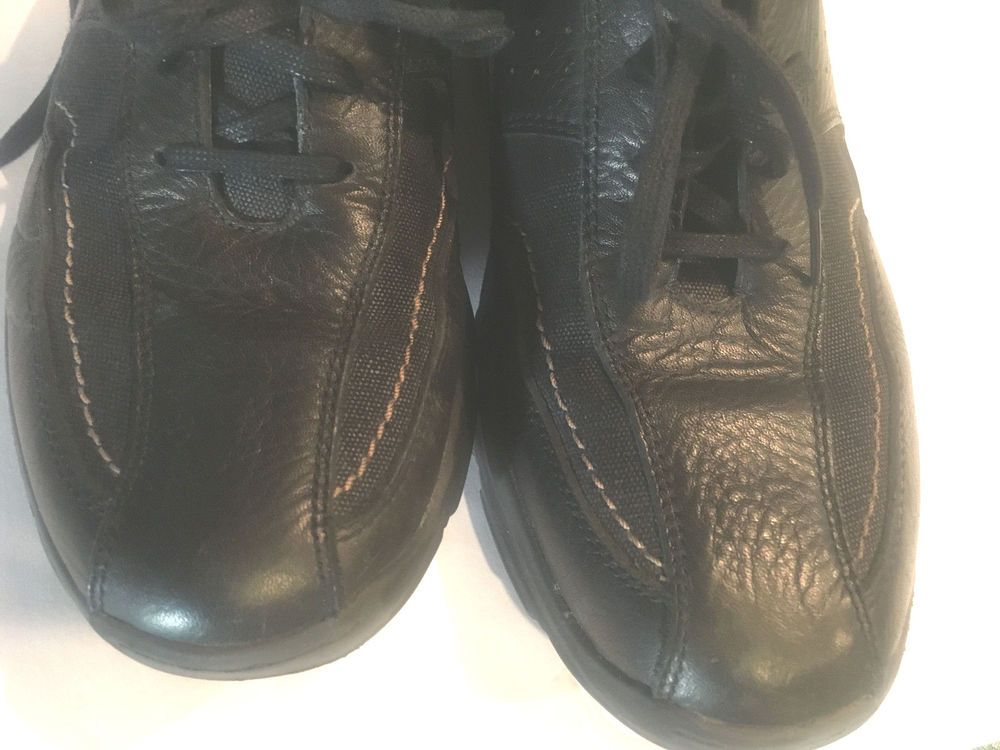 3748b655d4334 Clarks Dress Shoes Mens Size 11 Lace Up Matte Black Lightweight ...