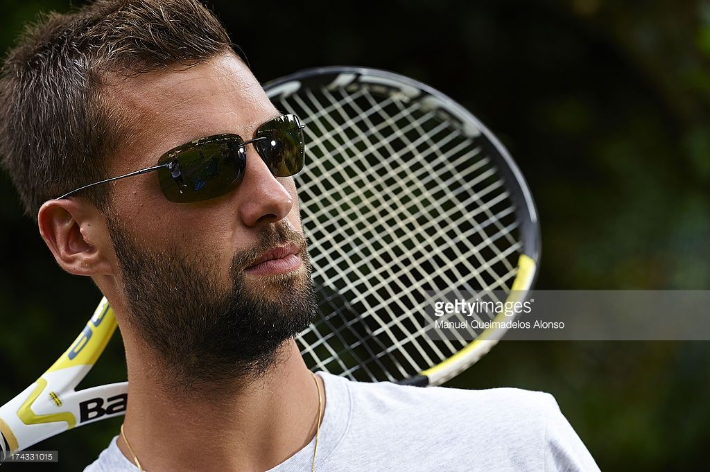 Professional Tennis Player Benoit Paire Poses During A Maui Jim Shoot Professional Tennis Players Tennis Players Tennis