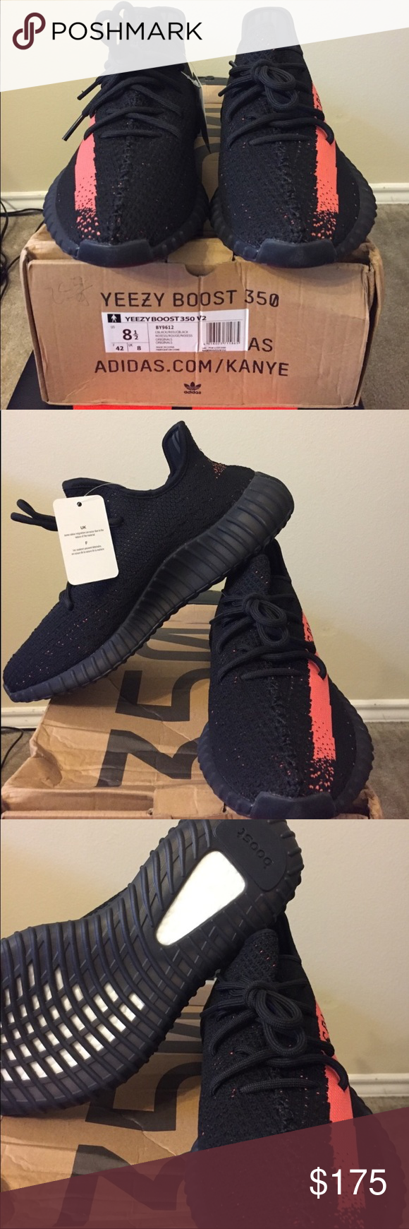 Adidas Yeezy Boost 350 v2 Black  Red size 8.5 New with tag Adidas Yeezy  Boost 350 v2 Black Red size 8.5 this shoes are UA unauthorized Authentic  AAA ... f3673deeb3