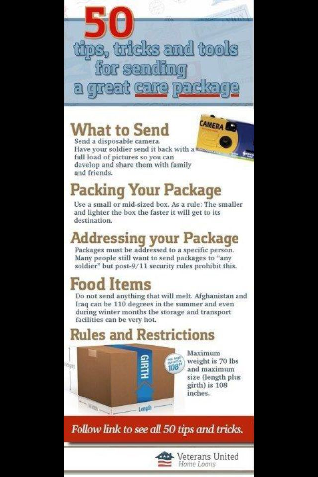 navy care package rules