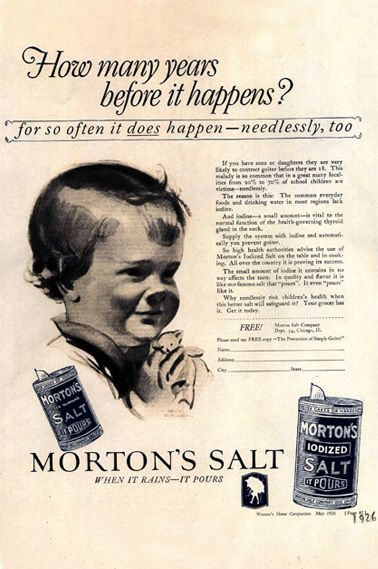 Ad from 1926 | Food ads I love | Funny vintage ads, Morton