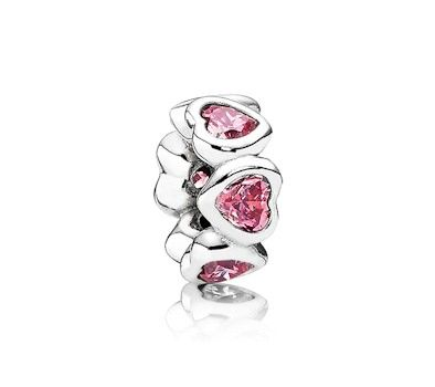Pandora, Space In My Heart Fancy Pink Spacer, 791252CZS