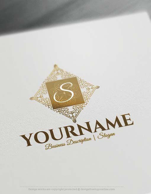 Online Free Logo Maker Elegant Frame Logo Design Frame Logo Logo Maker Initials Logo Design