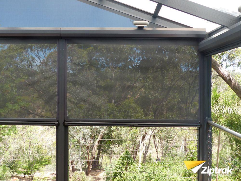 Outdoor Fabric Mesh Blind Back Terrace Ziptrak Blinds