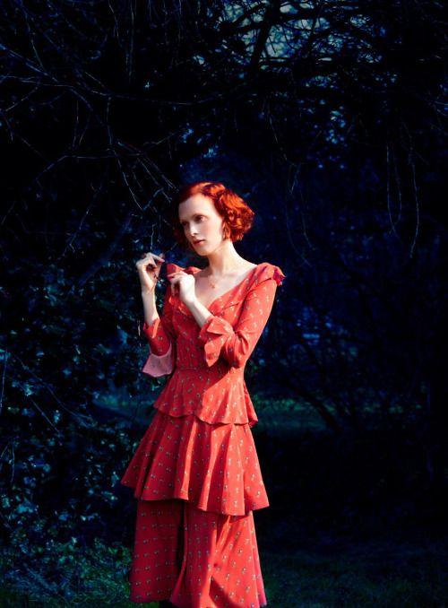 Last Night I Dreamed I Went To Manderley Again… Publication: Harper's Bazaar UK July 2016 Model: Karen Elson Photographer: Erik Madigan Heck