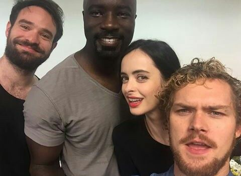 Charlie Cox,  Mike Colter,  Krysten Ritter and Finn Jones - The Defenders at NYCC16