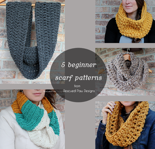 5 Easy Beginner Crochet Scarf Patterns Knittingcrochet