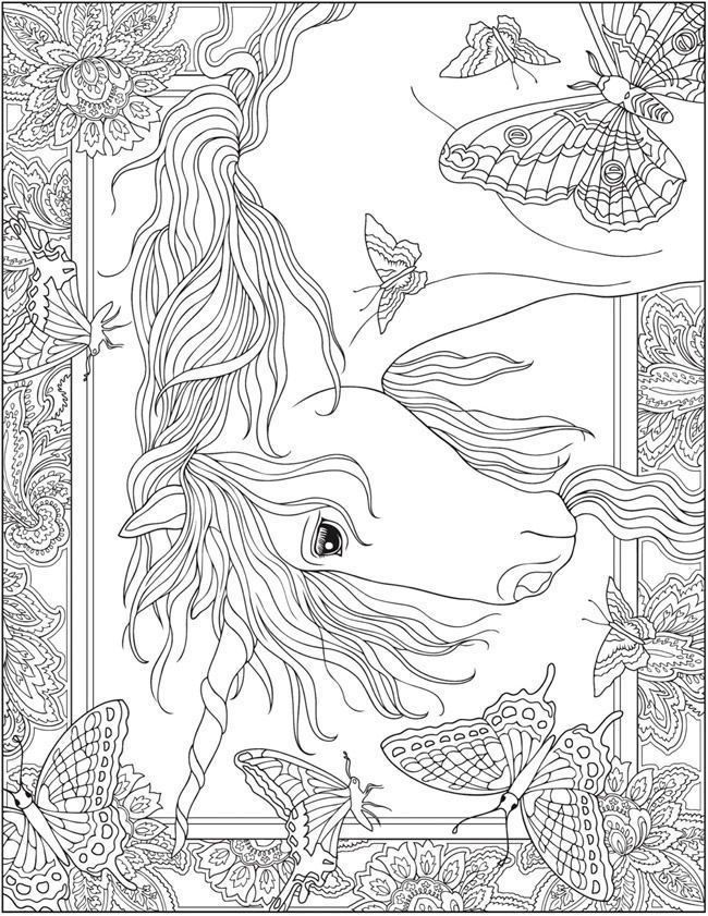 Welcome to Dover Publications; Creative Haven Unicorns coloring ...