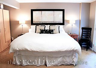 Headboard Idea Use A Long Mirror Just Above Your Pillows