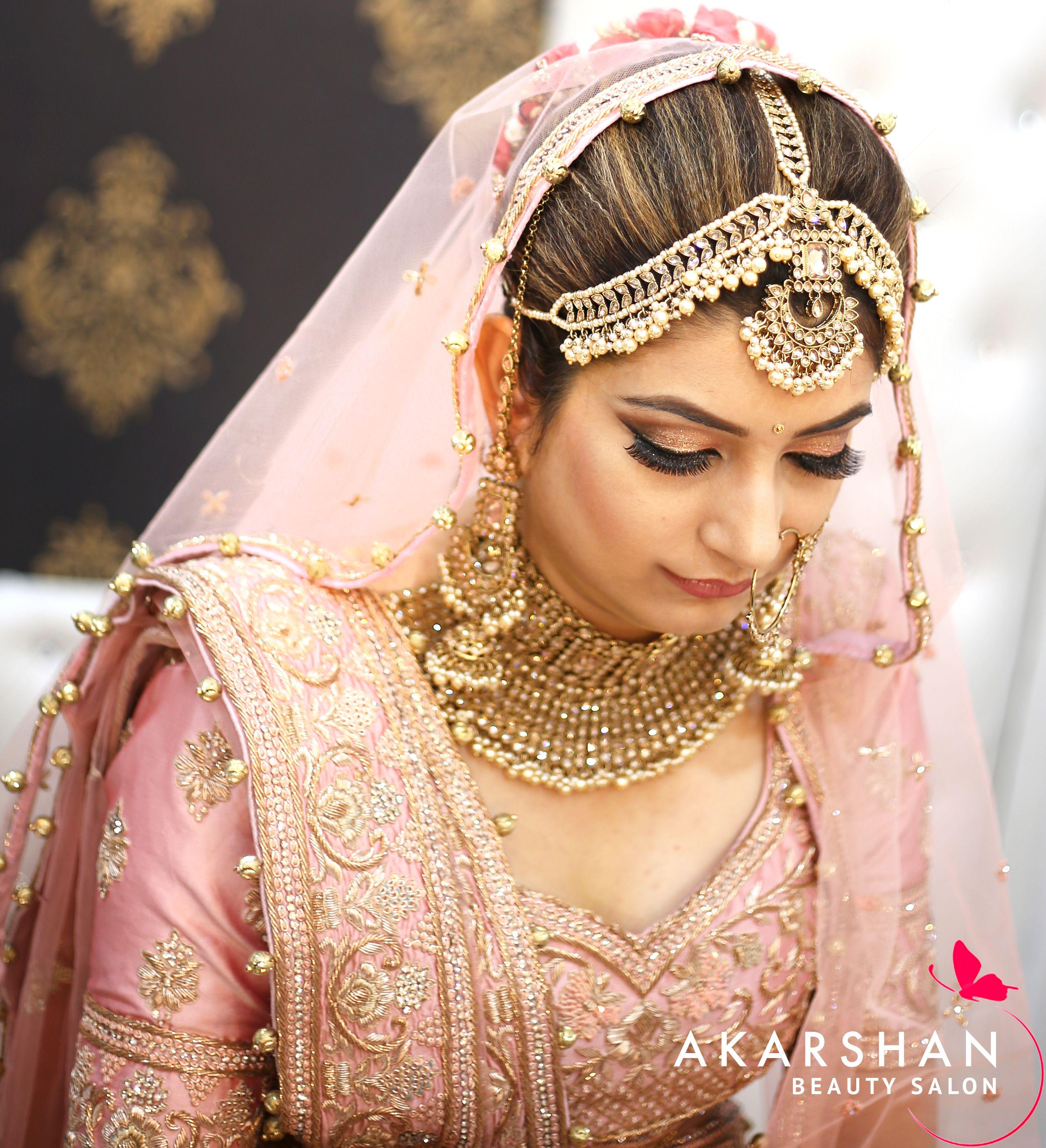 High Definition Bridal Makeup At Akarshan Beauty Salon Gwalior Bridal Makeup Beauty Beauty Salon