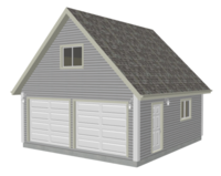 G526 22 X 24 8 Garage Plan With Loft Dwg And Pdf Sds Plans Garage Plans With Loft Garage Plans Porch Plans