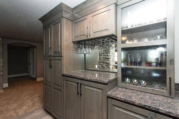 Kitchen Cabinets: StarMark Cabinetry Hanover door in mushroom ...