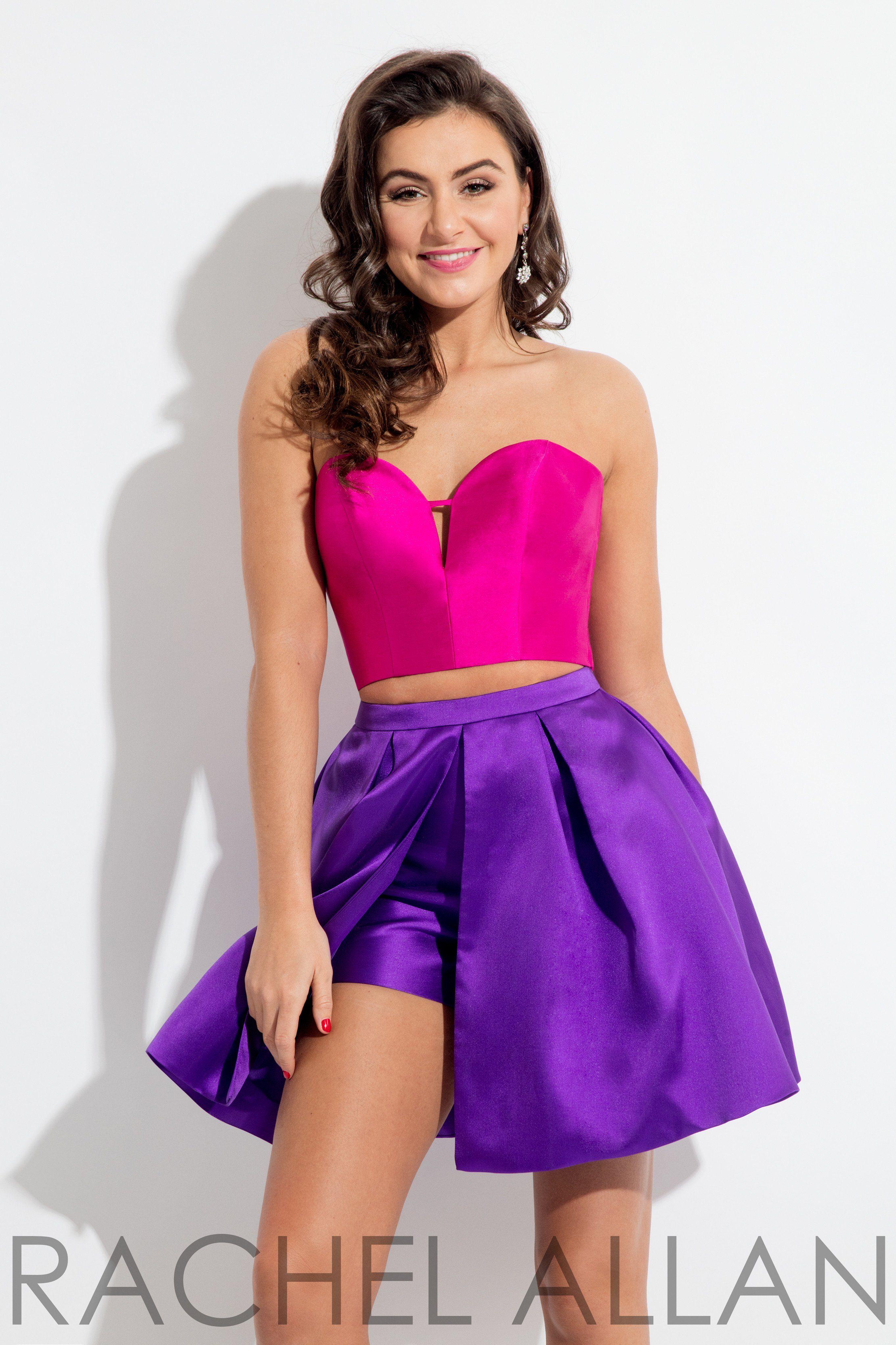 Rachel Allan 4429 Magenta/Purple Sweetheart Strapless Two Piece ...