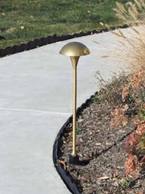 Hadco Mul4 T3 Bi Pin Or Ml4d3 Led Small Mushroom Die Cast Brass Or Aluminum Low Voltage Path Lights Hadco Advent Mushroom Path Lights