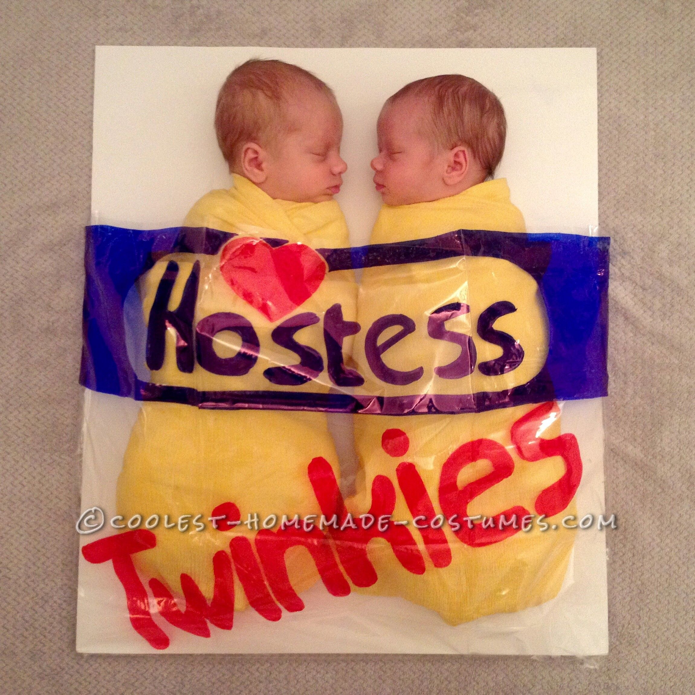 Awesome Twin Baby Costume Idea Happy Halloween from our TWINkies