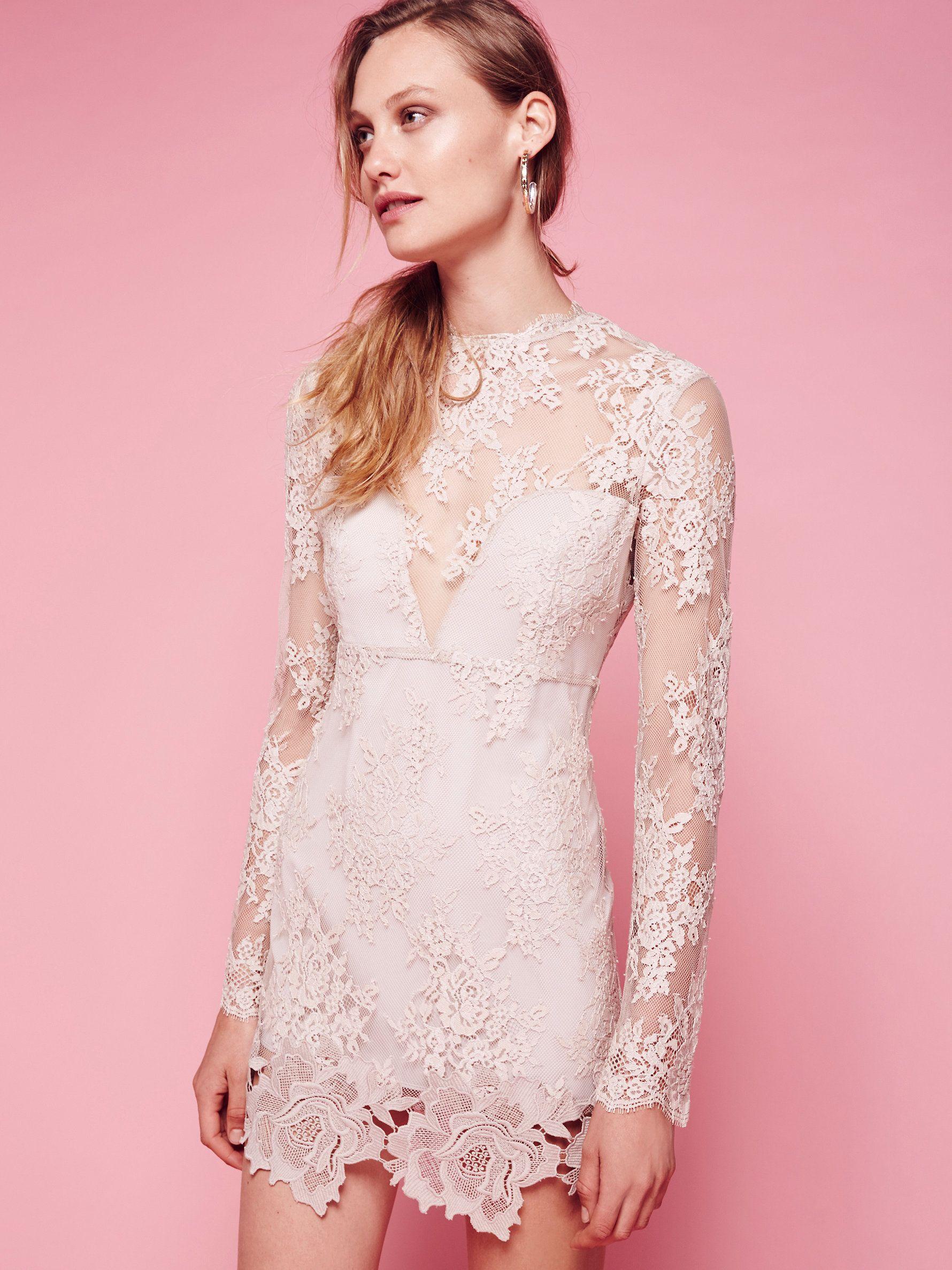 Leondra Mini Dress Mini Dress Sheer Lace Dress Lace Mini Dress [ 2375 x 1780 Pixel ]