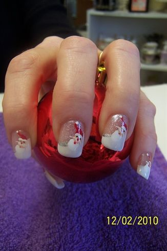 Santa Claus Nail Art Designs Santa Hat Nails Pinterest Nail