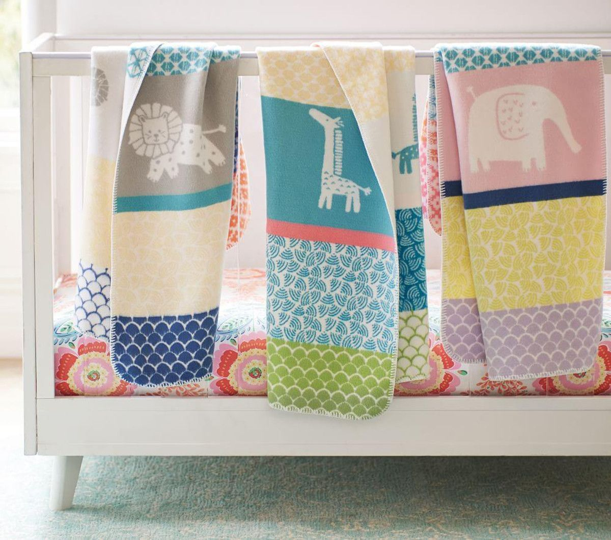 Fuzzy Animal Baby Blankets Pottery Barn Kids CA Baby