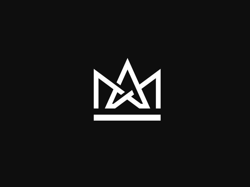 Am Monogram Geometric Logo Church Logo Typo Logo Design