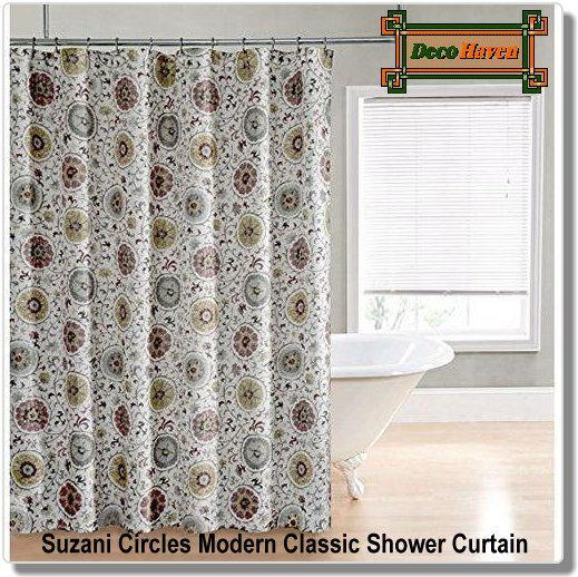 Suzani Circles Modern Classic Shower Curtain - This Suzani Circles ...