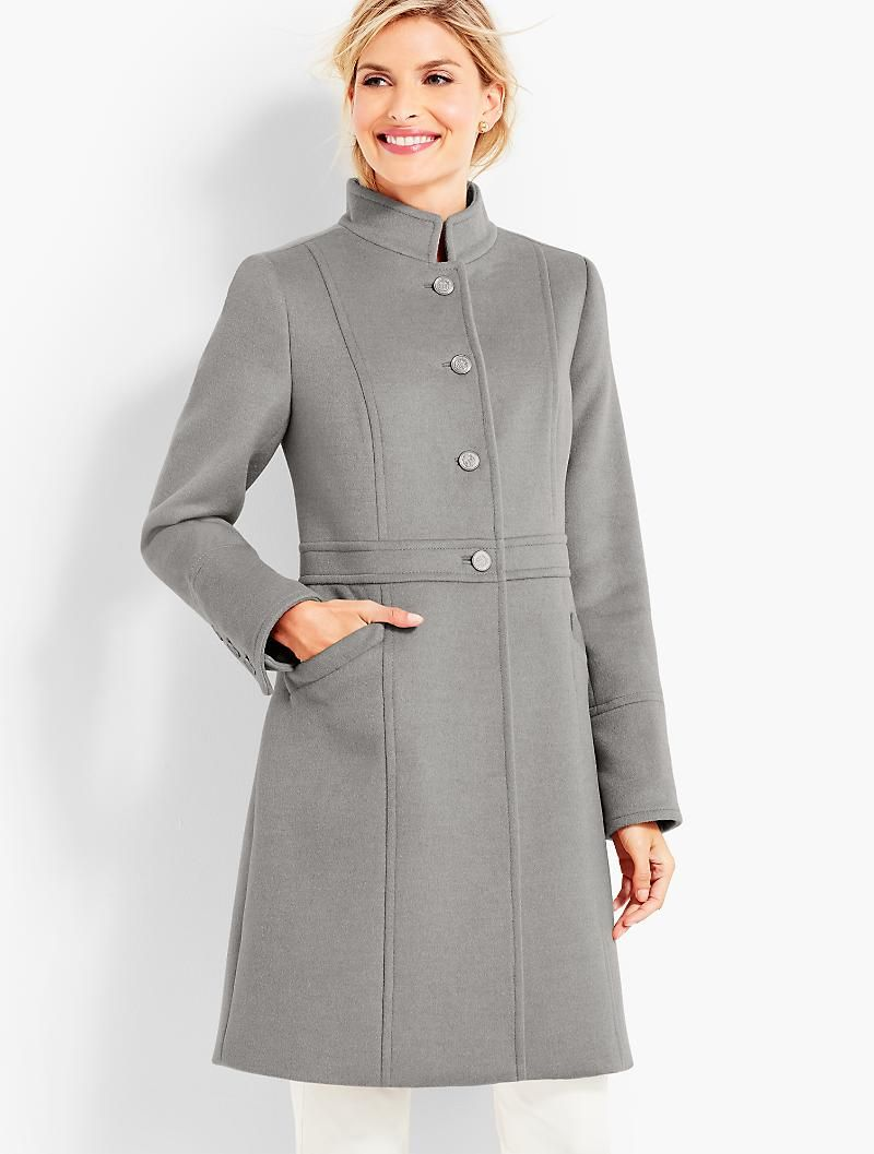 Military Style Stand Collar Coat Talbots Stand Collar Coat Military Fashion Coat [ 1057 x 800 Pixel ]